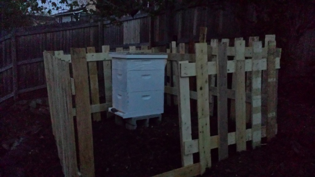 Fence made out of pallets