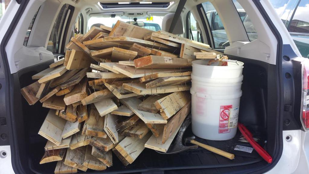 Pallet wood broken down