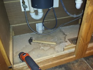 leak under the kitchen sink replacing the wood floor the kitchen sink 8930